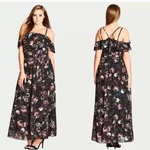 City Chic • Vintage Peony Maxi Dress